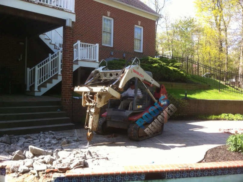 Breaking Ground- In Ground Swimming Pool Demo- Baltimore Maryland