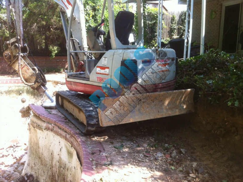 Swimming Pool Demo- During Removal Process in Maryland