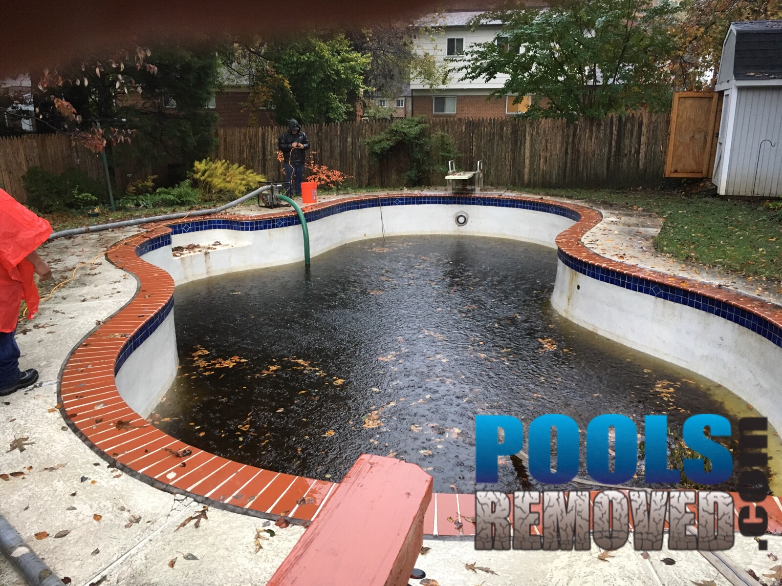 In Ground Swimming Pool Before Removal- Demo College Park Maryland