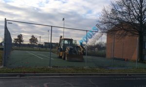 Beginning Tennis Court Removal in Maryland- Also Remove Your Pool