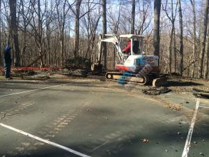 Tennis Court Removal Demo- Company in Maryland