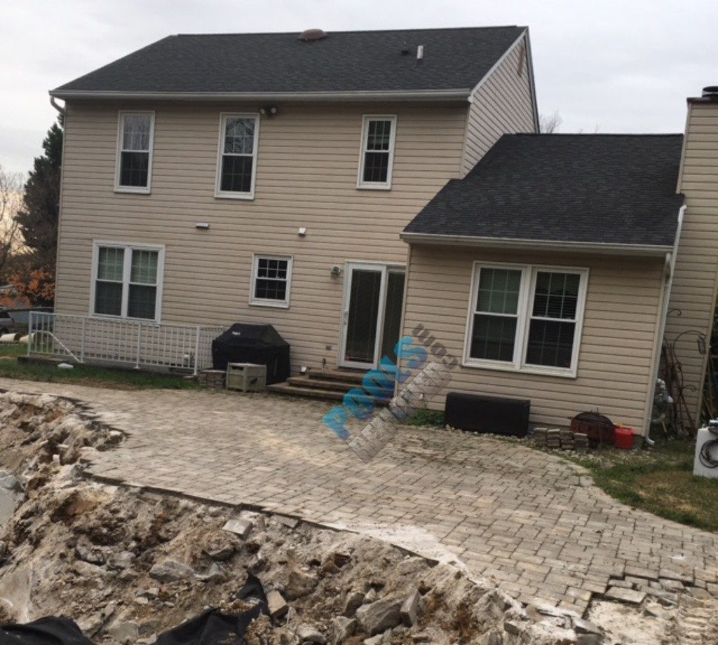 Laying Patio Pavers- Pool Removed in Maryland