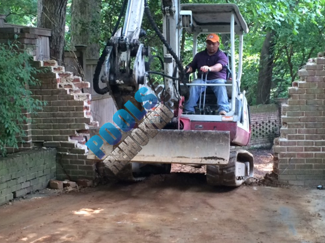 There was no choice but to dismantle the masonry wall in Chevy Chase MD