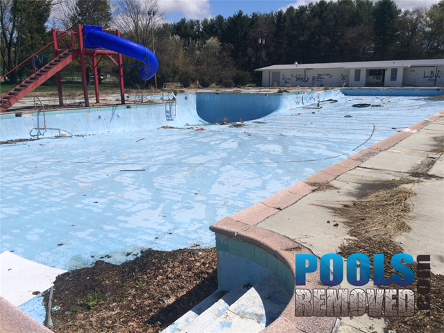 During Commercial Swimming Pool Removal Maryland