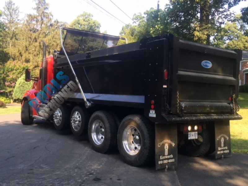 Dump Truck for Pool Removal Services in Maryland and Virginia