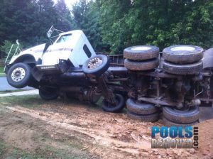 Dump Truck Hauling Pool Removal Materials- Maryland