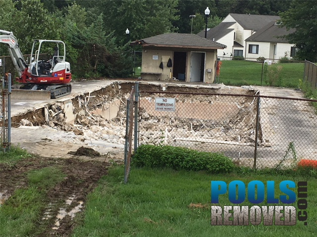 HOA In Ground Swimming Pool Removal Maryland Virginia