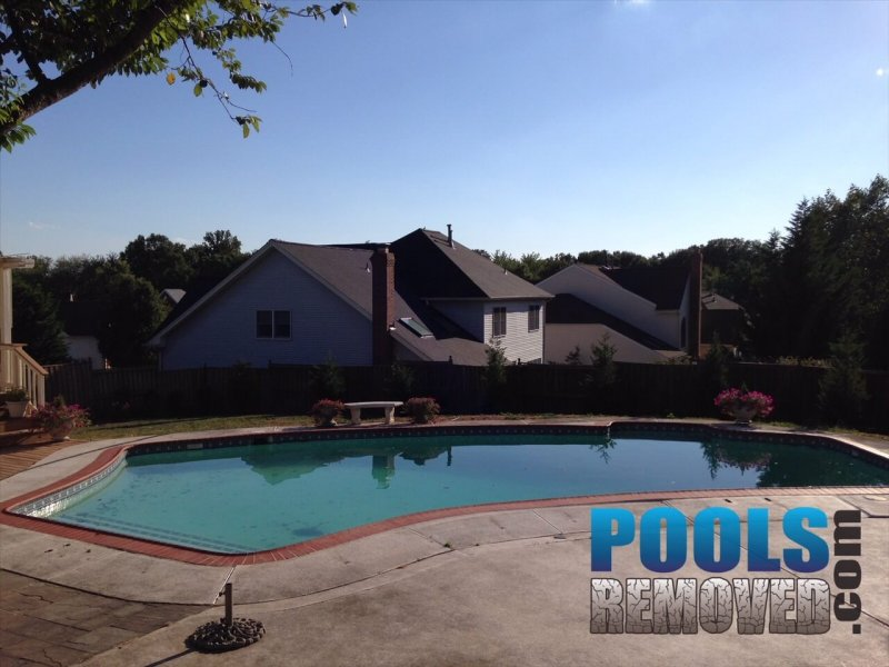 Demolition of Gunite Swimming Pool in Maryland