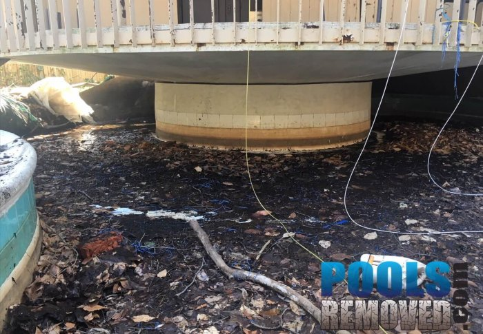 During Swimming Pool Removal in Virginia and Maryland