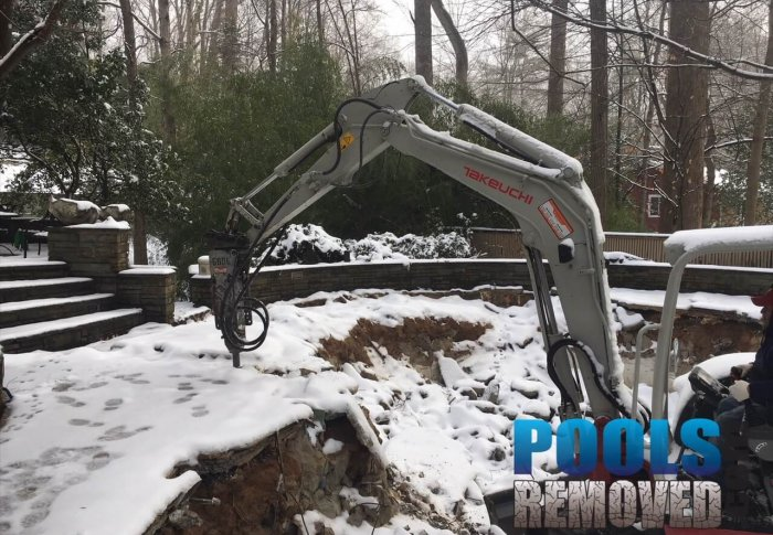 Demolishing Swimming Pool in Winter- Removal in Virginia and Maryland