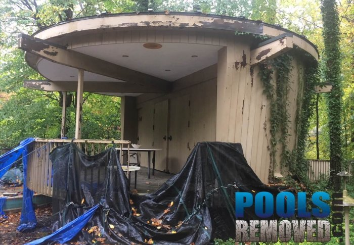 Swimming Pool Bath house demolition- Removal Company in Maryland