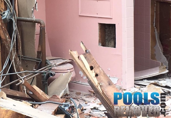 Pool Removal Challenges- Bathroom Damage in Maryland and Virginia