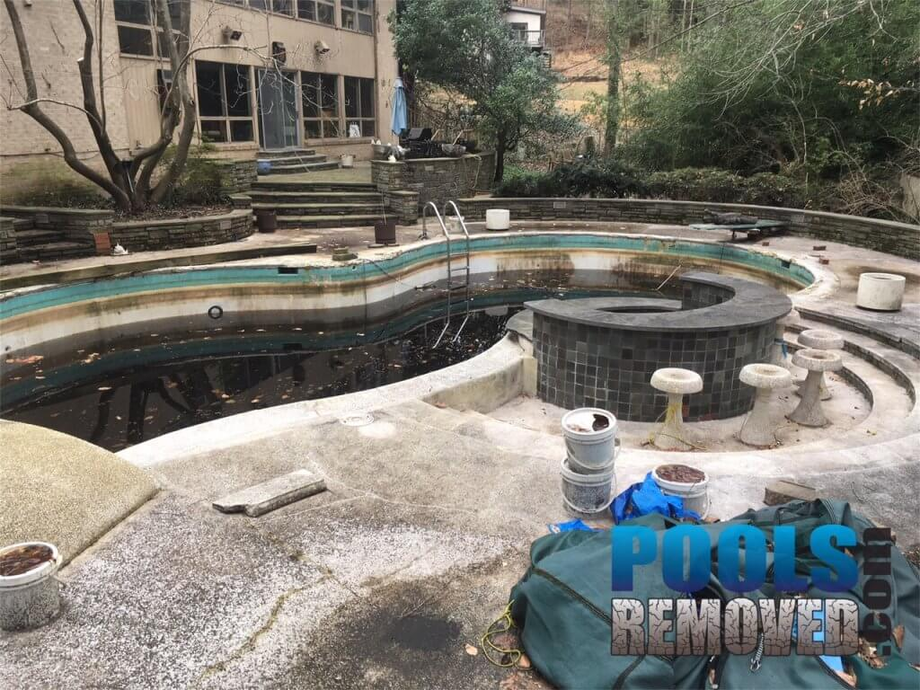 In Ground Pool Concrete- Pool Removal in North Bethesda Maryland
