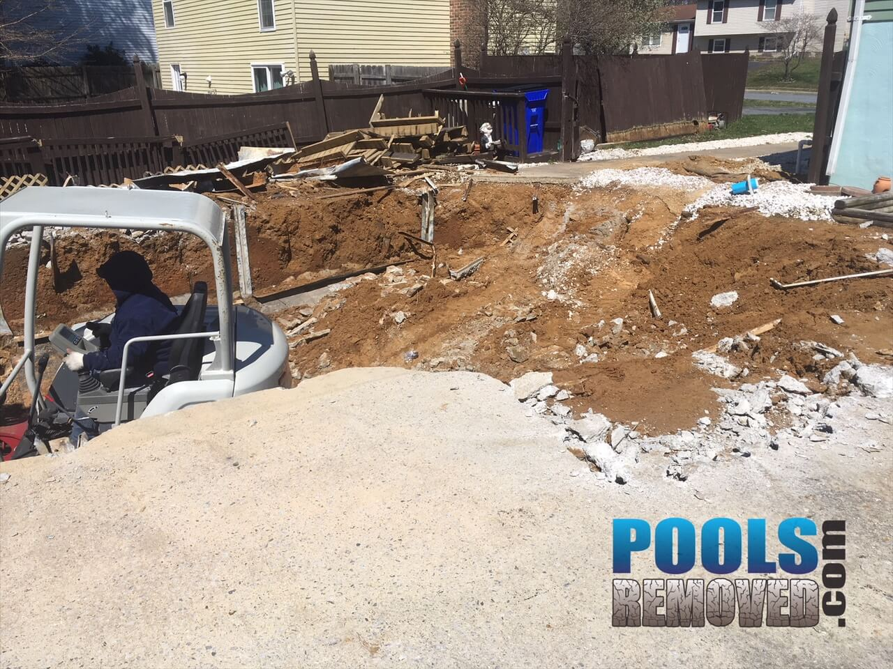 Brunswick Maryland - During Pool Removal