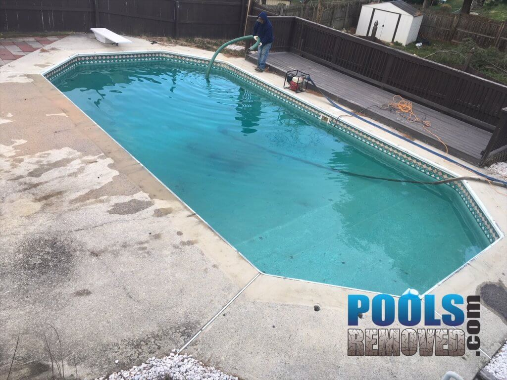 Frederick Maryland Swimming Pool Removal- Before