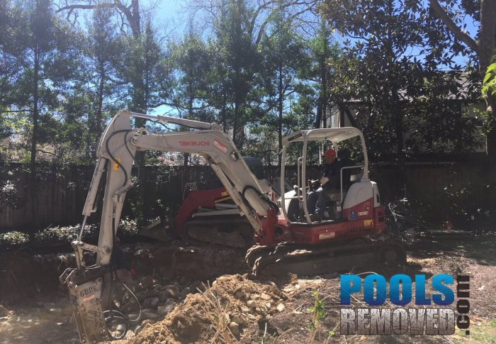 Pool demolition and removal