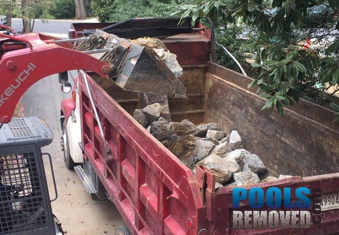 swimming Pool removal concrete