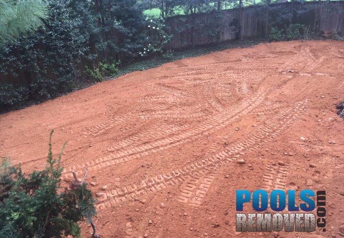 Pool removal grading