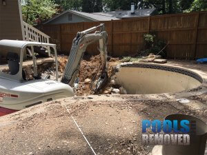 Inground pool removal in MD VA