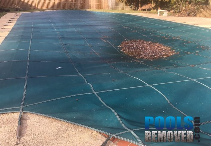 Swimming Pool Removed Potomac Maryland