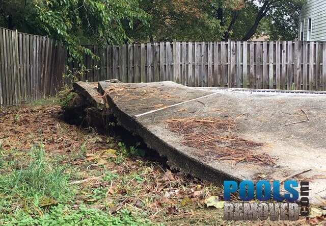 Floater swimming pool removal