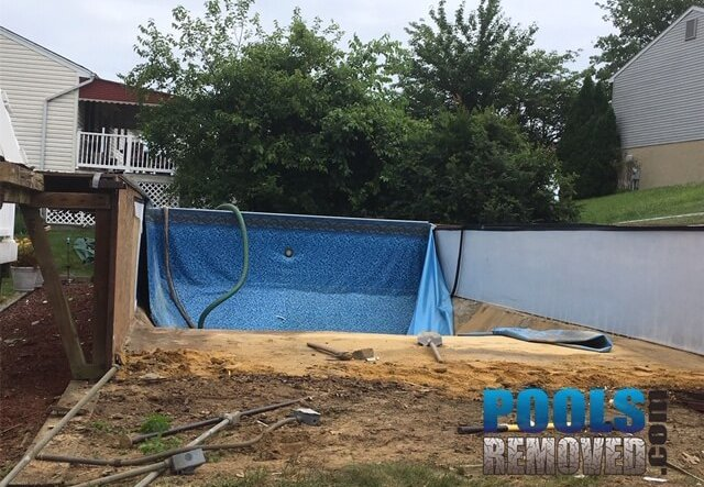 Pool removal baltimore Maryland MD