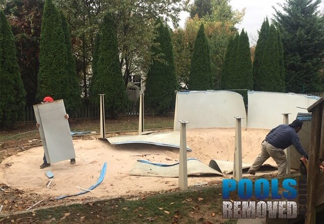 above ground pool removal services company in Maryland