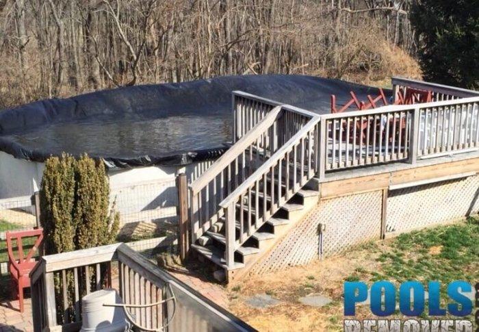 Fairfax VA pool demolition