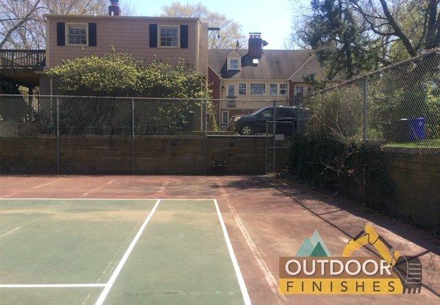 tennis court removal maryland & VA