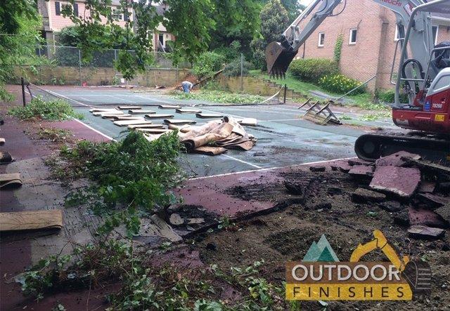 Mclean VA Potomac MD Tennis court removal