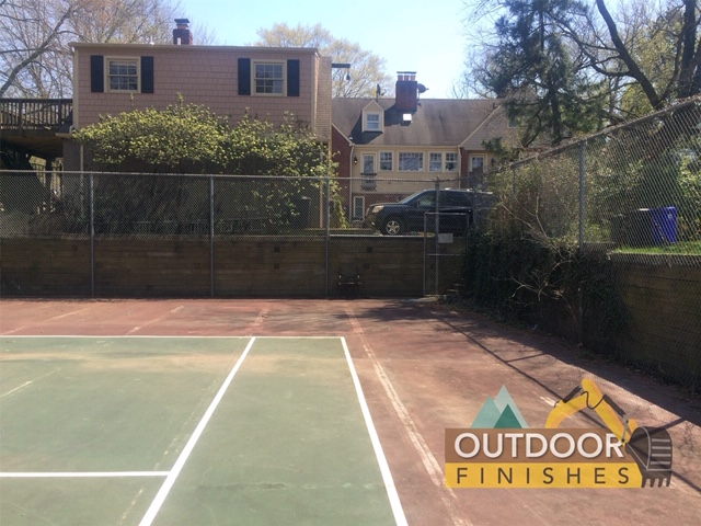 Remove a tennis court Maryland Virginia
