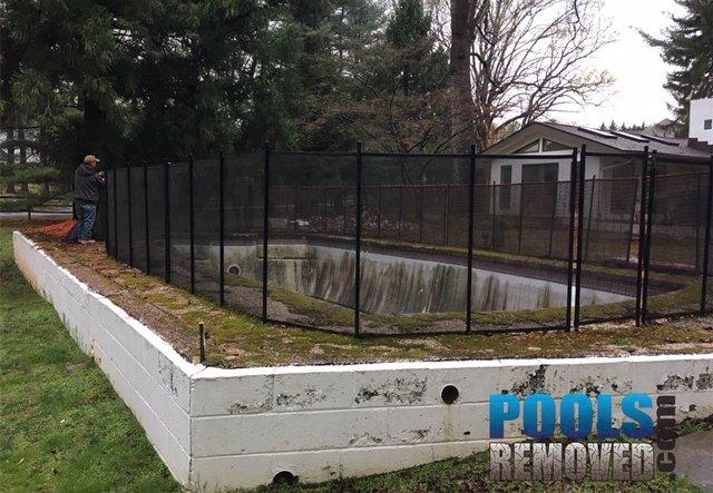 swimming pool demolition potomac maryland