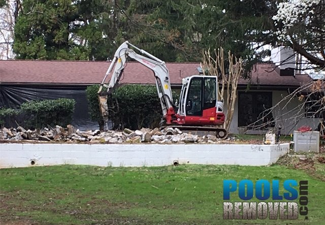 We remove swimming pools in maryland
