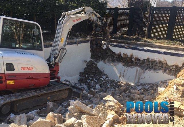 demolish a swimming pool maryland